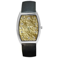 Crumpled Foil 17c Barrel Style Metal Watch