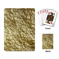 Crumpled Foil 17c Playing Card