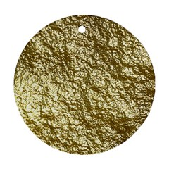 Crumpled Foil 17c Round Ornament (two Sides)