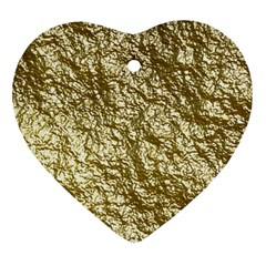 Crumpled Foil 17c Heart Ornament (two Sides)