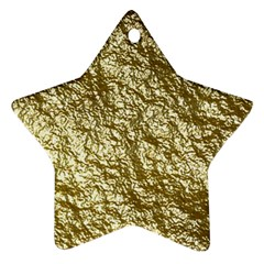 Crumpled Foil 17c Star Ornament (two Sides)