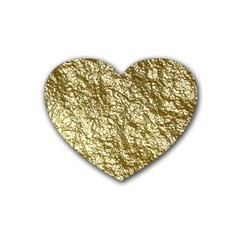 Crumpled Foil 17c Heart Coaster (4 Pack)