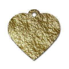 Crumpled Foil 17c Dog Tag Heart (two Sides)