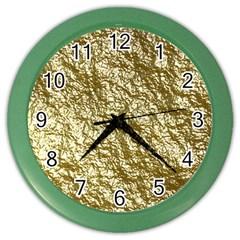 Crumpled Foil 17c Color Wall Clocks