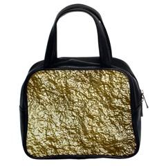 Crumpled Foil 17c Classic Handbags (2 Sides)