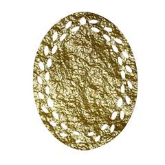 Crumpled Foil 17c Ornament (oval Filigree)