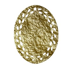 Crumpled Foil 17c Oval Filigree Ornament (two Sides)
