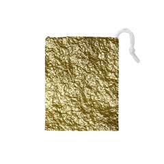 Crumpled Foil 17c Drawstring Pouches (small)