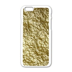Crumpled Foil 17c Apple Iphone 6/6s White Enamel Case