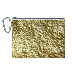 Crumpled Foil 17c Canvas Cosmetic Bag (l)
