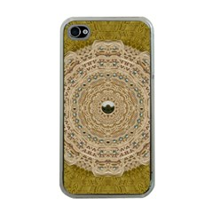 Golden Forest Silver Tree In Wood Mandala Apple Iphone 4 Case (clear)