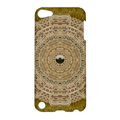 Golden Forest Silver Tree In Wood Mandala Apple Ipod Touch 5 Hardshell Case