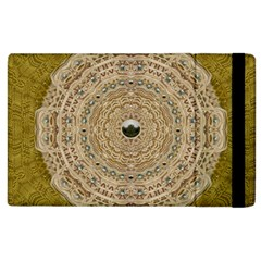 Golden Forest Silver Tree In Wood Mandala Apple Ipad 2 Flip Case