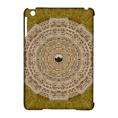 Golden Forest Silver Tree In Wood Mandala Apple Ipad Mini Hardshell Case (compatible With Smart Cover)