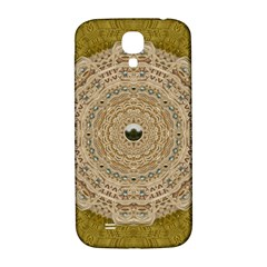 Golden Forest Silver Tree In Wood Mandala Samsung Galaxy S4 I9500/i9505  Hardshell Back Case