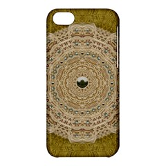 Golden Forest Silver Tree In Wood Mandala Apple Iphone 5c Hardshell Case