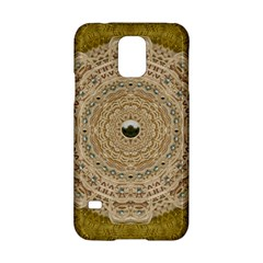 Golden Forest Silver Tree In Wood Mandala Samsung Galaxy S5 Hardshell Case