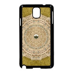 Golden Forest Silver Tree In Wood Mandala Samsung Galaxy Note 3 Neo Hardshell Case (black)