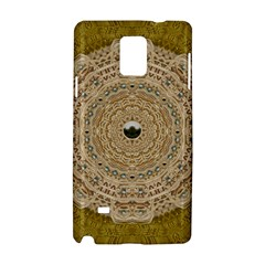 Golden Forest Silver Tree In Wood Mandala Samsung Galaxy Note 4 Hardshell Case