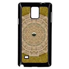 Golden Forest Silver Tree In Wood Mandala Samsung Galaxy Note 4 Case (black)