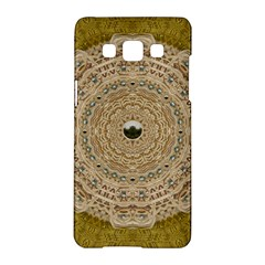 Golden Forest Silver Tree In Wood Mandala Samsung Galaxy A5 Hardshell Case