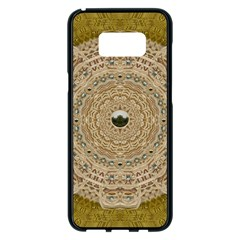 Golden Forest Silver Tree In Wood Mandala Samsung Galaxy S8 Plus Black Seamless Case