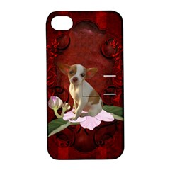 Sweet Little Chihuahua Apple Iphone 4/4s Hardshell Case With Stand