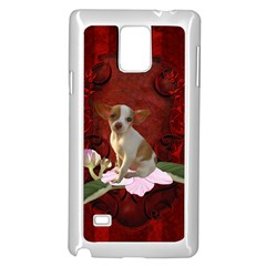 Sweet Little Chihuahua Samsung Galaxy Note 4 Case (white)