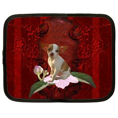 Sweet Little Chihuahua Netbook Case (large)