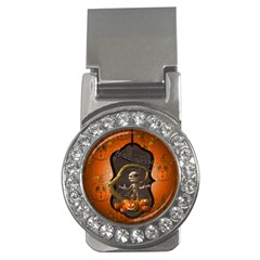 Halloween, Funny Mummy With Pumpkins Money Clips (cz)