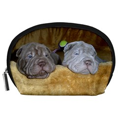 2 Shar Pei Puppies Accessory Pouches (large)
