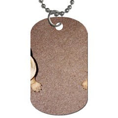 2 Tan Shar Pei Puppies Dog Tag (two Sides)