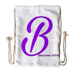 Belicious World  b  Blue Drawstring Bag (large)