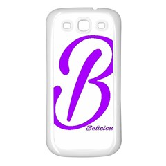 Belicious World  b  Coral Samsung Galaxy S3 Back Case (white)