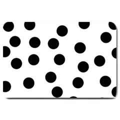 Black And White Dalmatian Spot Pattern Large Doormat