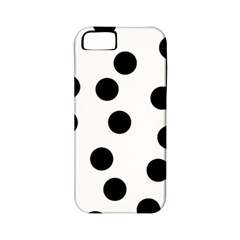 Black And White Dalmatian Spot Pattern Apple Iphone 5 Classic Hardshell Case (pc+silicone)