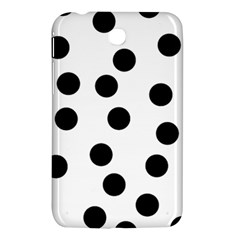 Black And White Dalmatian Spot Pattern Samsung Galaxy Tab 3 (7 ) P3200 Hardshell Case