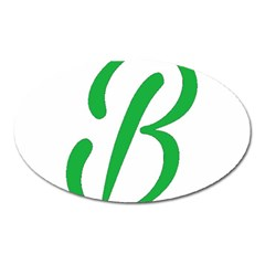Belicious World  b  In Green Oval Magnet