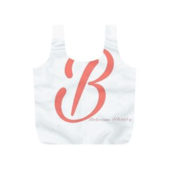 Belicious World  b  In Coral Full Print Recycle Bags (s)