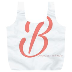 Belicious World  b  In Coral Full Print Recycle Bags (l)