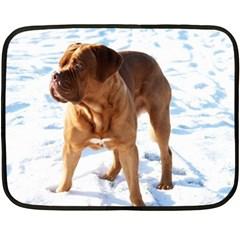 Dogue De Bordeaux In Snow Fleece Blanket (mini)