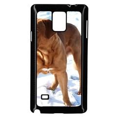 Dogue De Bordeaux In Snow Samsung Galaxy Note 4 Case (black)