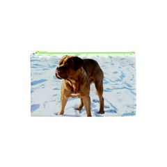 Dogue De Bordeaux In Snow Cosmetic Bag (xs)