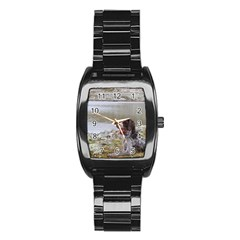 Gwp Laying Stainless Steel Barrel Watch