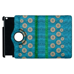 Wood Silver And Rainbows Apple Ipad 3/4 Flip 360 Case