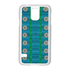 Wood Silver And Rainbows Samsung Galaxy S5 Case (white)