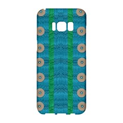 Wood Silver And Rainbows Samsung Galaxy S8 Hardshell Case