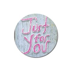 Letters Quotes Grunge Style Design Magnet 3  (round)
