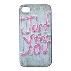 Letters Quotes Grunge Style Design Apple Iphone 4/4s Hardshell Case With Stand