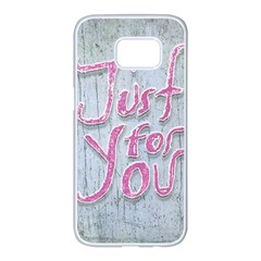 Letters Quotes Grunge Style Design Samsung Galaxy S7 Edge White Seamless Case